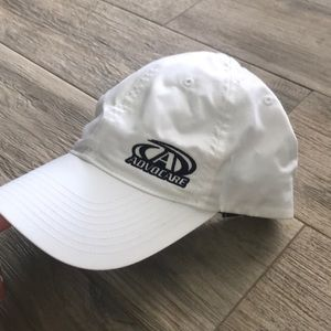 Nike white Running hat Advocare